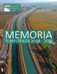 MEMORIA 2018 2019 RIEGO MAULE SUR