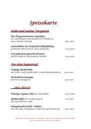 Speisekarten Landhotel Geiselwind (09/2019)