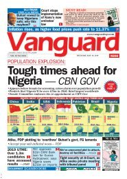 16052019 - POPULATION EXPLOSION: Tough times ahead for Nigeria — CBN GOV
