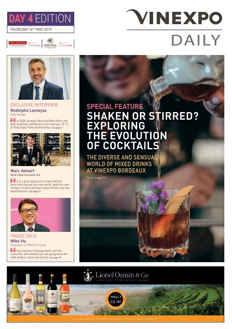 Vinexpo Daily 2019 - Day 4 Edition