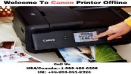 Need Help for Canon Printer – Call (+1) 8884800288