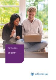 Infobroschüre: Psychologie an der FernUniversität