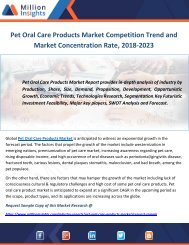 Pet Oral Care Products Market Competition Trend and Market Concentration Rate, 2018-2023