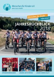 Jahresrueckblick 2018 - Menschen fuer Kinder e. V.