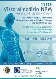 Viszeralmedizin NRW 2019_Hauptprogramm