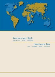 Kontinentales Recht - Bundesrechtsanwaltskammer