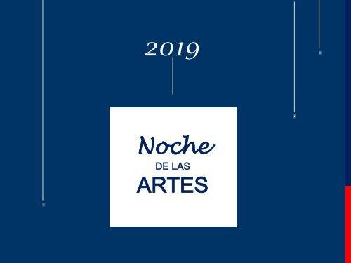 Catálogo Noche de las Artes, 2019