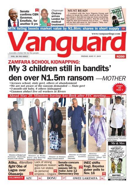 ZAMFARA SCHOOL KIDNAPPING My 3 children still in