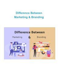 What Is The Difference Between Marketing & Branding