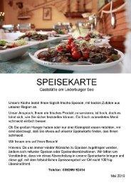 Speisekarte Löderburger See 2019