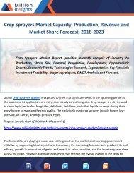 Crop Sprayers Market Capacity, Production, Revenue and Market Share Forecast, 2018-2023
