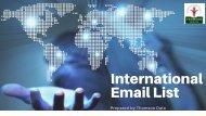 International Email List - Targeted International Mailing List