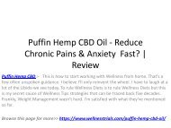 Puffin Hemp CBD Oil - Reduce Chronic Pains & Anxiety  Fast? | Review
