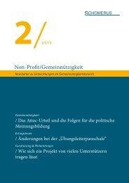 Non-Profit/Gemeinnützigkeit 2/19
