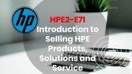 HPE2-E71 Exam Braindumps