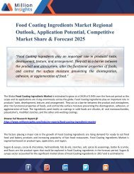 Food Coating Ingredients Market Analysis And Segment Forecasts To 2025 -Industry, Outlook, Size, Application, Product