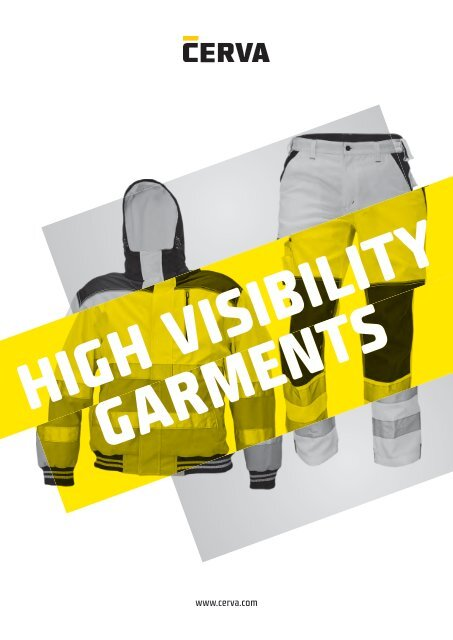 Cerva - High Visibility Garments - Catalogue (EN)