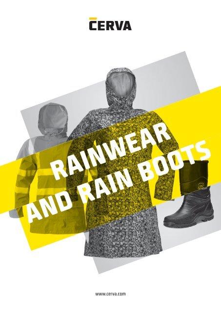 Cerva - Rainwear and rain boots - Catalogue (EN)