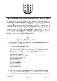 Satzung über den Dienst in der Freiwilligen Feuerwehr - Stadt Leuna