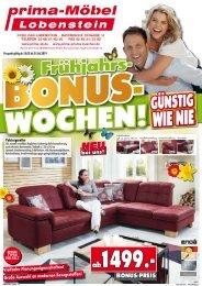 Frühjahrs-Bonus-Wochen bei prima-Möbel in 07356 Bad Lobenstein
