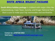 Delightful south africa tour packages