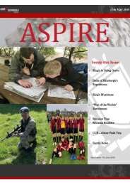 ASPIRE Newsletter - 17th May 2019