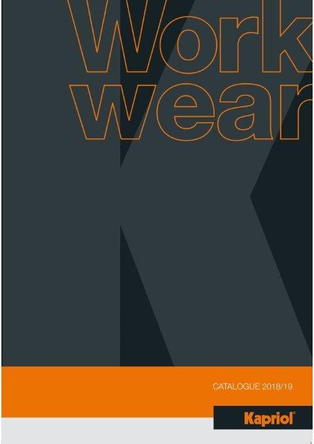 Kapriol - Work Wear - Catalog - 2018-2019 (EN)