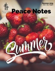 Peace Notes Summer 2019-Word of Peace Lutheran Church
