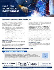 Workplace Eye Saftey