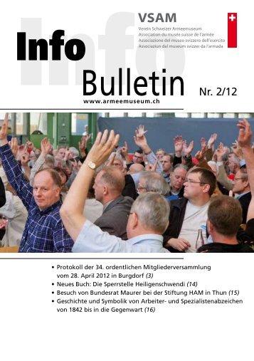 Bulletin Nr. 2/12 - Verein Schweizer Armeemuseum