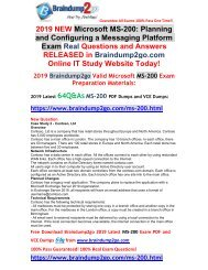 [2019-May-Version]New MS-200 Dumps with VCE and PDF Free Offer