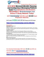 [2019-May-Version]New MS-200 PDF and MS-200 VCE Dumps Free Offer