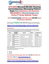 [2019-May-Version]New MS-200 VCE and MS-200 PDF Dumps Free Offer