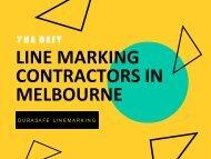 The Best Line Marking Contractors in Melbourne - Durasafe Linemarking