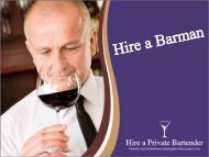 Looking For A Barman – Hire Us Today