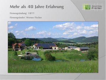 Präsentation Privatkunden Zaunbau Fischer