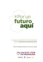 Programas de Unidas por Extremadura 2019 #PorUnFuturoAquí
