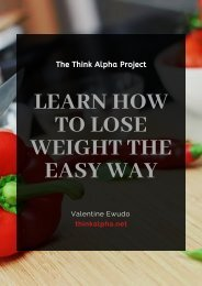 Learn How To Lose Weight The Easy Way