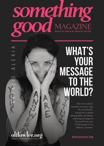 Something Good Magazine - Natalie Alexia