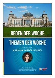 Mariana Harder-Kühnel (MdB) -  Reden der Woche - Themen der Woche - KW 20