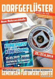 DORFGEFLÜSTER 5/19 der Dorfgemeinschaft Keyenberg Westrich Berverath e.V.