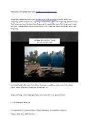 TERMURAH, WA +62 812-9627-2689, Jual Bio Septic Tank Tangerang