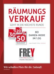 FREY Mode - Räumungsverkauf Marktredwitz