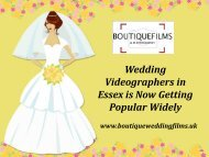 Wedding Videographers in Essex