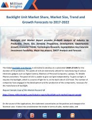 Backlight Unit Market Share, Market Size, Trend and Growth Forecasts to 2017-2022