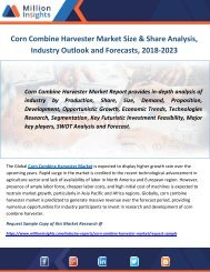 Corn Combine Harvester Market Size & Share Analysis, Industry Outlook and Forecasts, 2018-2023