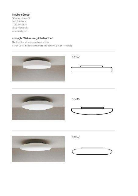 Katalog Glasleuchten weiss opalisiert