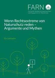 Wenn Rechtsextreme von Naturschutz reden - Argumente und Mythen