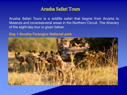 Arusha Safari Tours