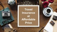 Travel Insurance at Affordable Price